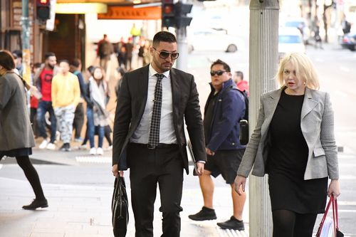 Disgraced businessman Salim Mehajer arriving at court earlier today. Picture: AAP