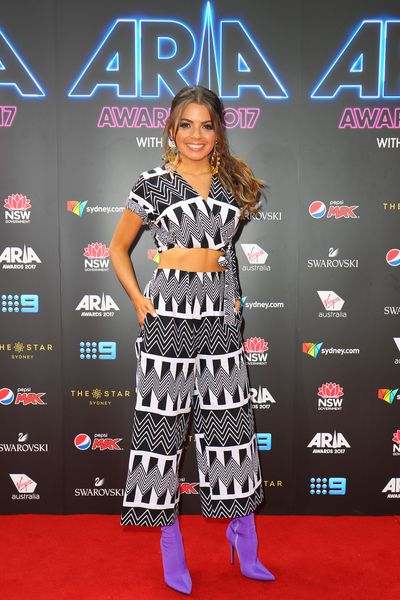 Tayla Mae at the 2017 ARIA Awards