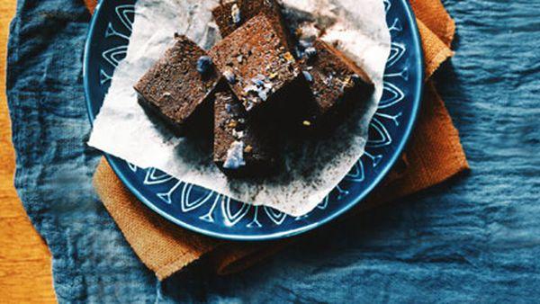 Violet chocolate fudge