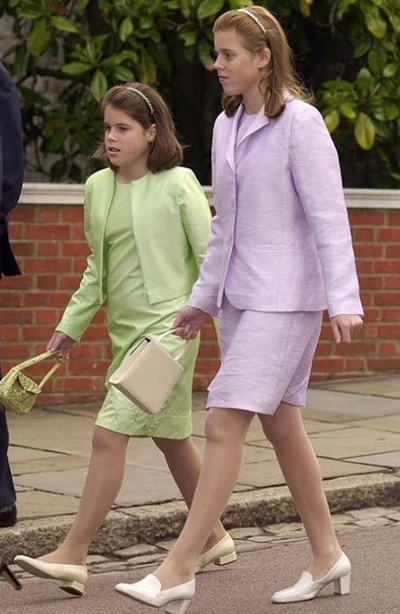 Princess Eugenie throwback photo with Princess Beatrice