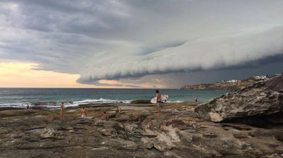 ninemsn reader Darius Winterfield captured the storm clouds rolling in over Bondi Beach this afternoon.