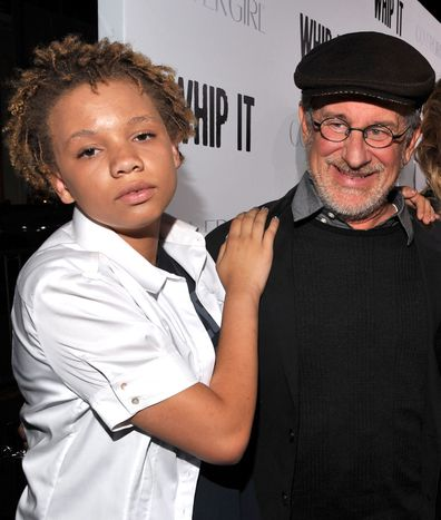 Steven Spielberg, daughter Mikaela, movie premiere