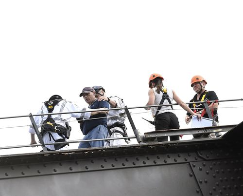 The 43-year-old was sentenced to 12 months prison and fined for the climb. Picture: AAP