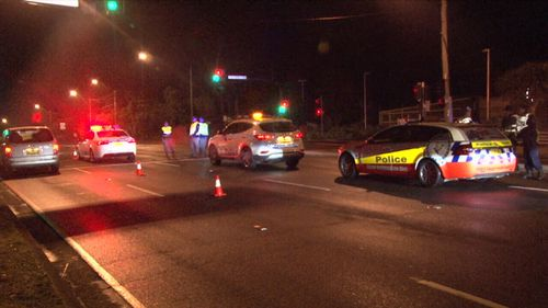 Three people were taken to hospital over the crash.