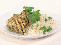Masala chicken with herb pilaf