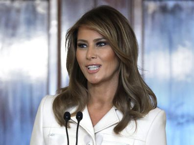 Melania Trump at the 2020 Governors Spouses Luncheon at the White House in February.