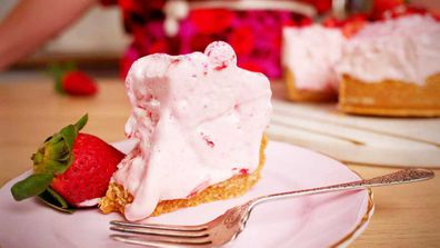 Strawberry cloud cake is the no-bake cake of your dreams
