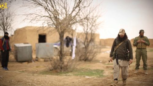 The video bears the hallmarks of previous ISIL execution clips. (Supplied)