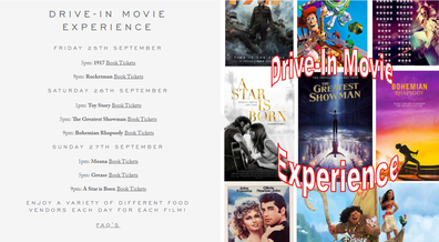 A wide selection of movies will be on offer with tickets on sale now.