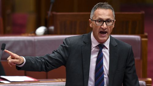 Greens leader Richard Di Natale has denied his energy plans will cost jobs.