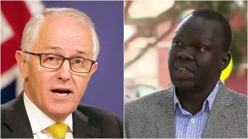 Richard Deng spoke about Mr Turnbull at a press conference on Tuesday. (AAP/9NEWS)