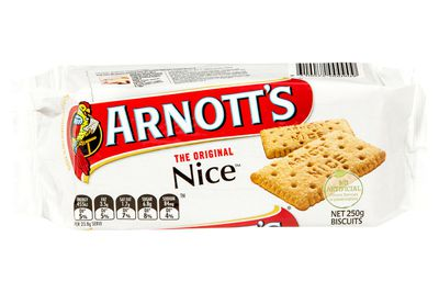 2 Nice biscuit are 100 calories