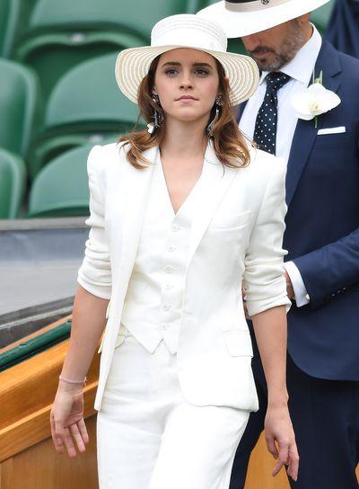 Emma Watson in Ralph Lauren atWimbledon 2018