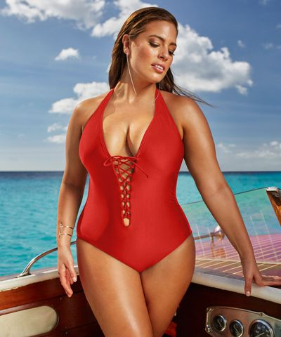 """This is different than anything I have worked on throughout my entire career,"" Graham says of her<a href=""https://www.swimsuitsforall.com/ashley-graham-swimsuits"" target=""_blank""> all-inclusive and un-retouched line</a>. ""I hope these images instill a fearless belief in everyone to be happy in their own skin and enjoy living in the moment, no matter who is watching."""