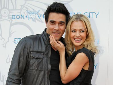 James Stewart and Jessica Marais in 2015