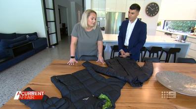 Lauren Silvertine testează jacheta kathmandu puffer împotriva alternativei ieftine a lui Big W. (A Current Affair ) clona