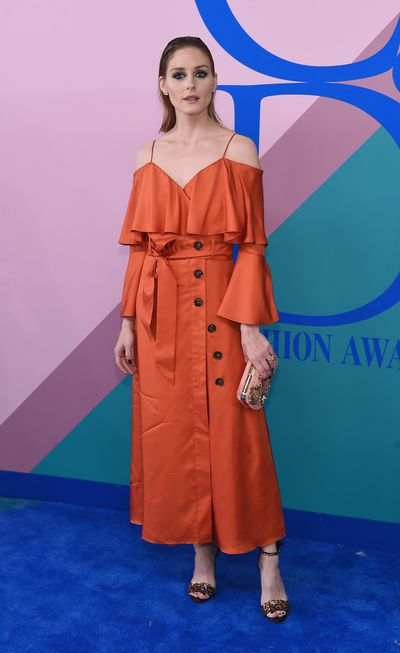 Olivia Palermo in Banana Republic at the 2017 CFDA Awards.