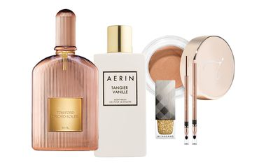 """<p>Nothing lifts the spirit quite like a beautiful makeup collection &ndash; except for a cool matching bag to keep it in. Here, a quick collection of the very best of both.</p> <p><a href=""""http://www.sephora.com/orchid-soleil-P410198?skuId=1849975&amp;icid2=products%20grid:p410198"""" target=""""_blank"""">Tom Ford Orchid Soleil Eau de Parfum, $275.</a></p> <p><a href=""""http://www.esteelauder.com.au/products/17140/Landing-Pages/Tangier-Vanille"""" target=""""_blank"""">AERIN Tangier Vanille Body Wash, $75.</a></p> <p><a href=""""https://au.burberry.com/nail-polish/"""" target=""""_blank"""">Burberry Limited Edition Nail Polish, $29.</a></p> <p><a href=""""https://nudebynature.com.au/shop/make-up/contour-eye-pencil/"""" target=""""_blank"""">Nude by Nature Contour Eye Pencil, $16.95.</a></p> <p><a href=""""https://janeiredale.com/au/en.htm"""" target=""""_blank"""">Jane Iredale Smooth Affair for Eyes, $55.</a></p>"""