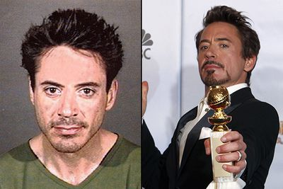 Following a string of drug-related arrests from 1996 - 2001, Robert Downey Jr was considered one of the most unreliable actors in Hollywood. <br/><br/>Drug-addicted, divorced and on the brink of bankruptcy, Downey was given a chance to star in the psychological thriller <i>Gothika</i>. While filming he met his current wife Susan Levine – the rock behind Downey's subsequent climb to sobriety  – who we have to thank for the <i>Iron Man</i> we now know and love!<br/>