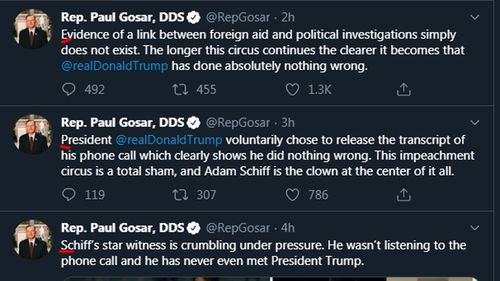 Congressman Paul Gosar Embeds 'Epstein Didn't Kill Himself' Message in Tweets