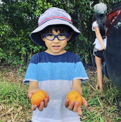 Five-year-old boy with tumour the size of an orange battling cancer