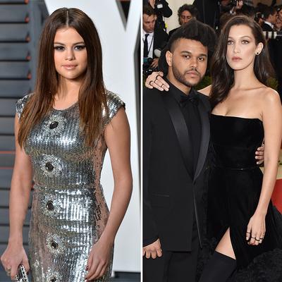 Selena Gomez, The Weeknd and Bella Hadid
