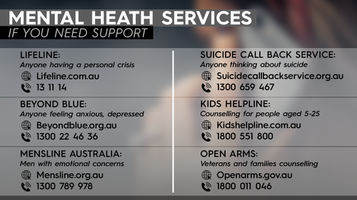 Mental Health Services, hotline, contact details