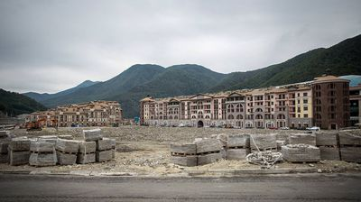 Once the subject of mockery by internet users across the globe, it appears the worst is not yet over for the Sochi Olympic village. (Alexander Belenkiv)