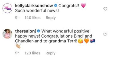 Bindi Irwin, Chandler Powell, pregnancy, baby announcement, celebrities, reaction, well wishes, messages, Instagram