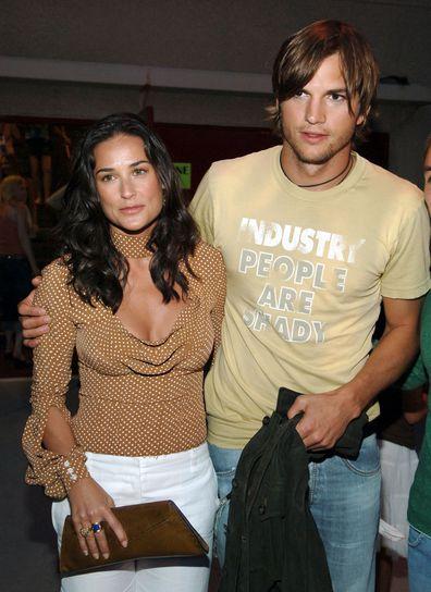 Demi Moore, Bruce Willis, relationship timeline, Ashton Kutcher