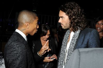 Pharrell Williams and Russell Brand looked pretty intense at one point...