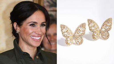 Meghan's butterfly earrings