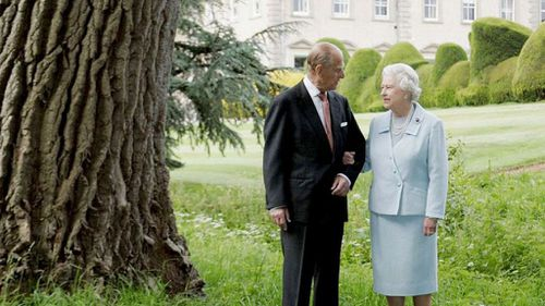 Prince Philip with wife, Queen Elizabeth II.