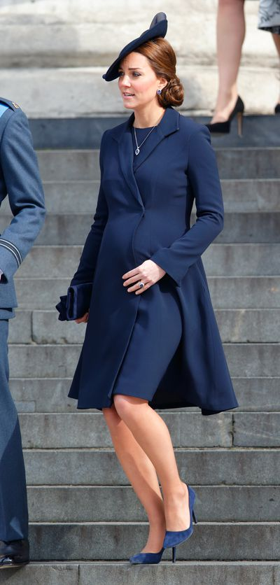 The Duchess of Cambridge, Kate Middleton in the navy.