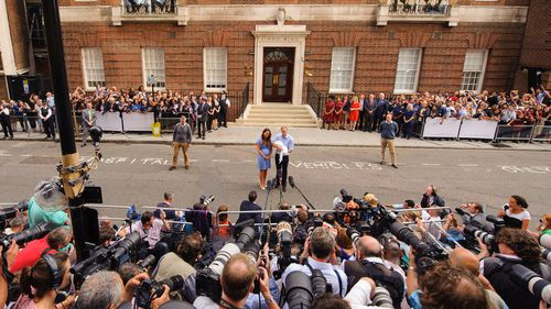 The Duchess and Duke of Cambridge outside St. Mary's Hospital in July 2013 shortly after the birth of Prince George. (AAP)