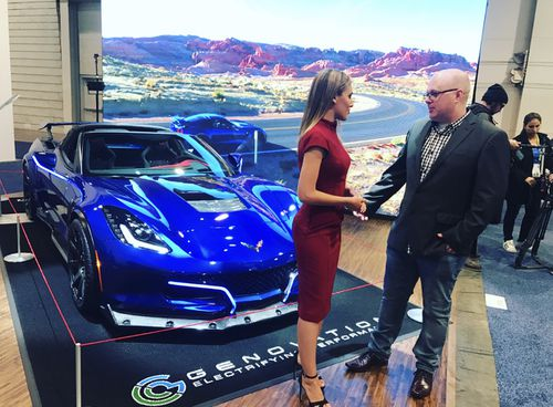 This is a classic corvette turned EV. (9NEWS)