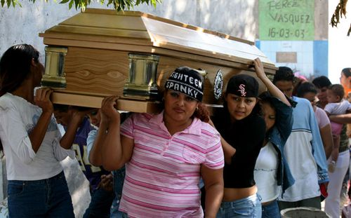The body of 26-year-old Jannteh Ramirez, killed by the MS-13 in 2007. She was the member of a rival El Salvador crime syndicate. (AP).