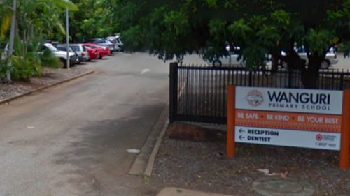 Authorities say the boy died near Wanguri Primary School in Darwin. (Google Maps).