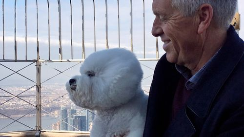 Flynn was treated to a trip to the top of the Empire State Building in the heart of New York City. (AP)