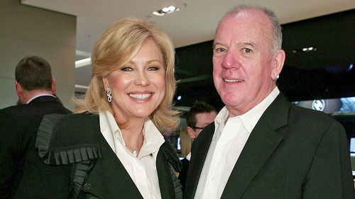 Willesee and fellow veteran TV journalist Kerri-Anne Kennerley in Bondi.