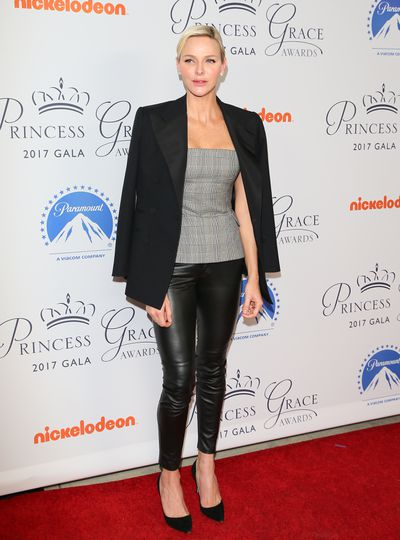 Princess Charlene at the 2017 Princess Grace Awards Gala  in Los Angeles in October, 2017