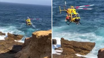 Bermagui NSW beach rescue stranded children