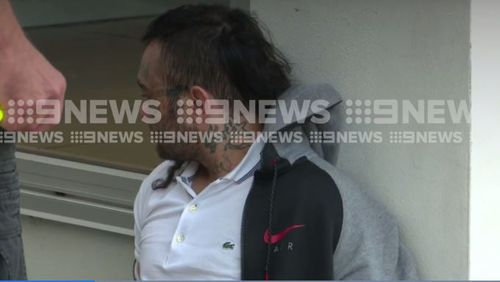 One of the men was covered in face and neck tattoos. Picture: 9NEWS