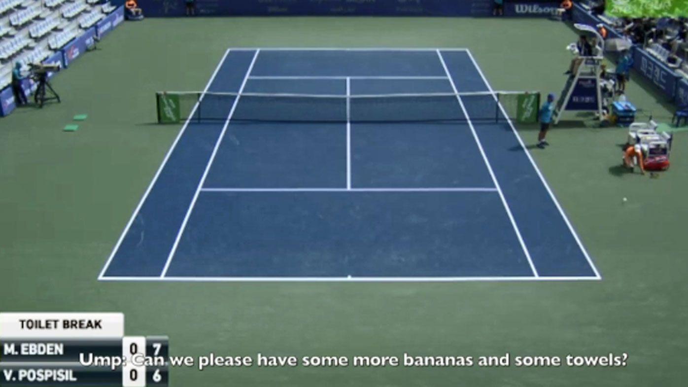 Bananas tennis tantrum