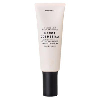 "<a href=""http://www.mecca.com.au/mecca-cosmetica/in-a-good-light-spf30-tinted-moisturiser/V-022326.html?cgpath=makeup-complexion-tintedmoisturiser#start=1"" target=""_blank"">Mecca Cosmetica In A Good Light SPF30+ Tinted Moisturiser in Medium, $40<br /> </a>"