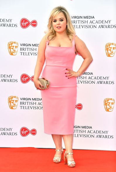 Nicola Coughlan arrives at Virgin Media BAFTA TV Awards (May 2019)