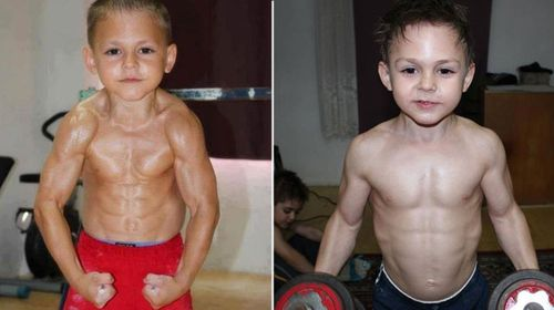 Tiny bodybuilders train to become world's strongest