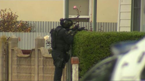 Specially trained police officers then shut down Wallaroo for 24 hours as they searched individual houses for Dohnt. Picture: 9NEWS.