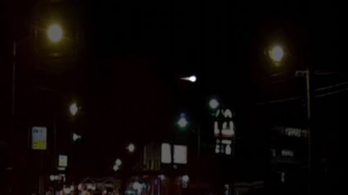 A massive meteor was spotted all across NSW from around 6.30pm, some even reporting seeing it turn from bright orange to green. Picture: 9NEWS