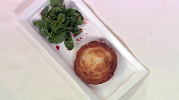Roasted pumpkin & goat's cheese pithivier